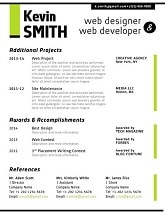 Resume Template Green