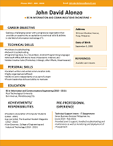 Resume Sample Single Page