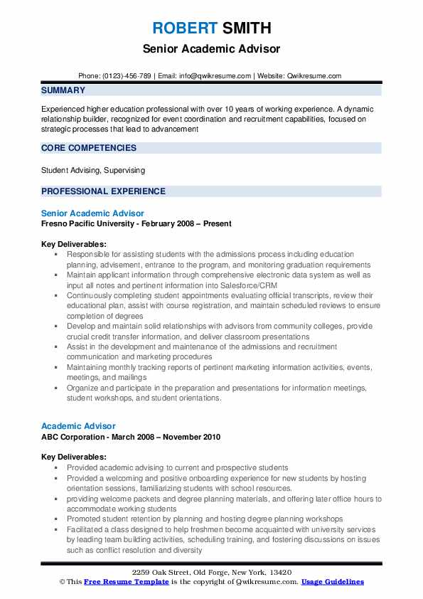 Entry Level Academic Advisor Cover Letter from assets.qwikresume.com