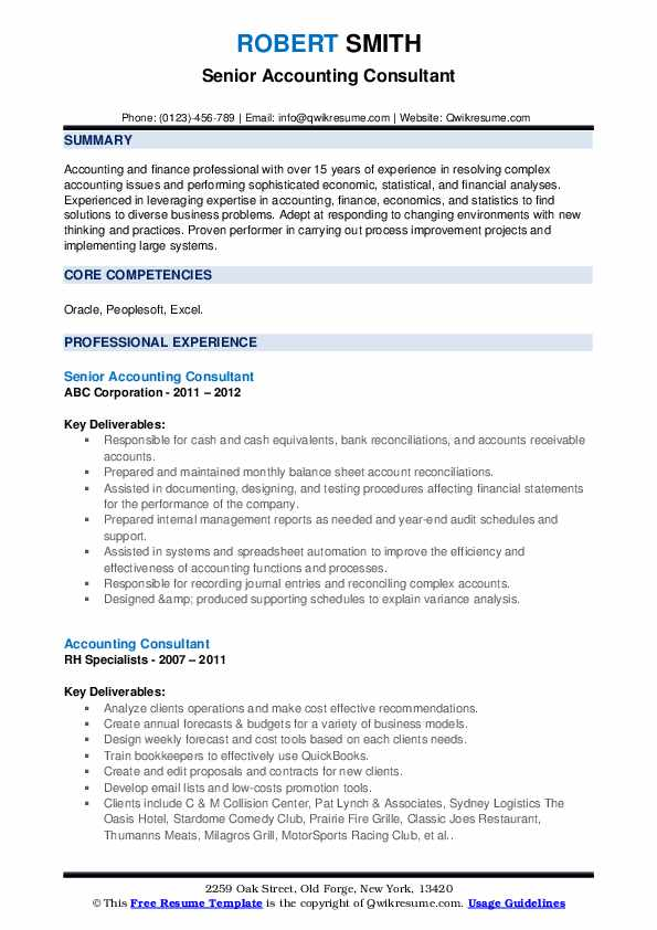 senior internal auditor resume samples