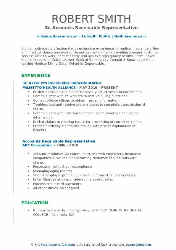 Licensed Insurance Representative Resume Format