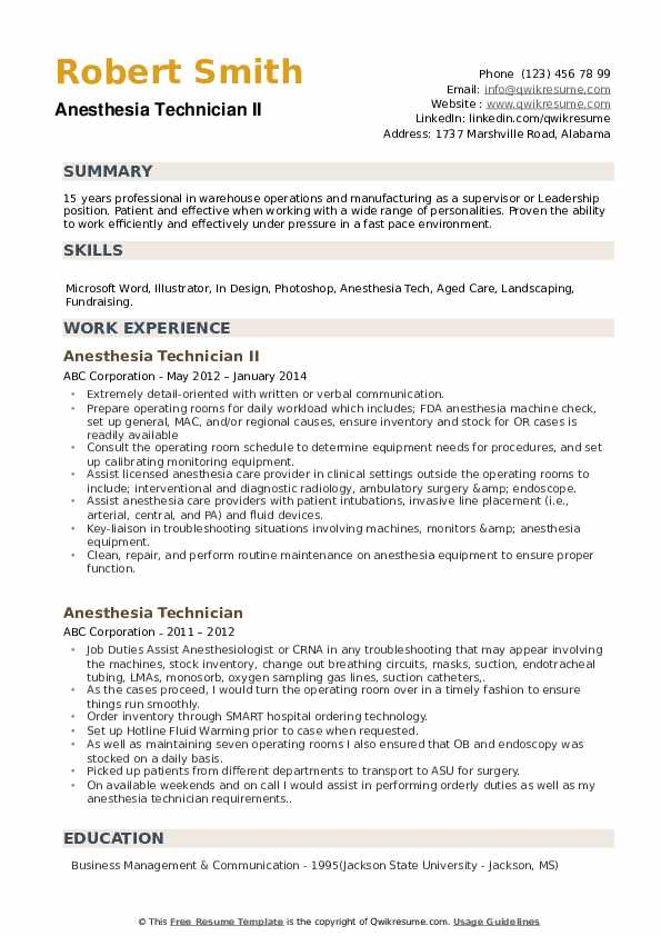 Program Technician/Representative Resume Model