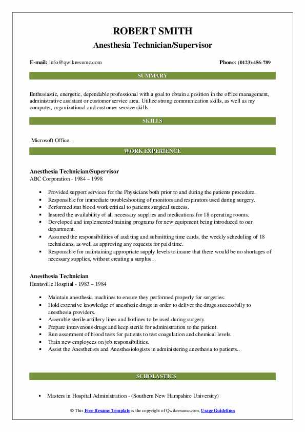 Associate Program Technician  Resume Model
