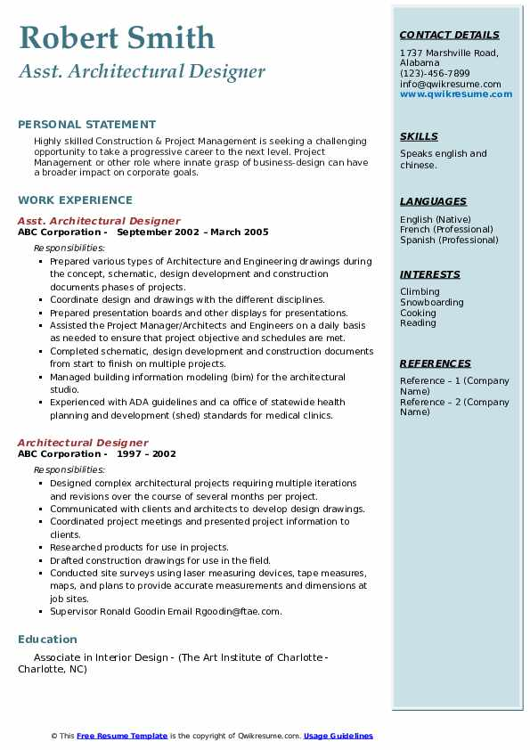 Project Scheduler Resume example