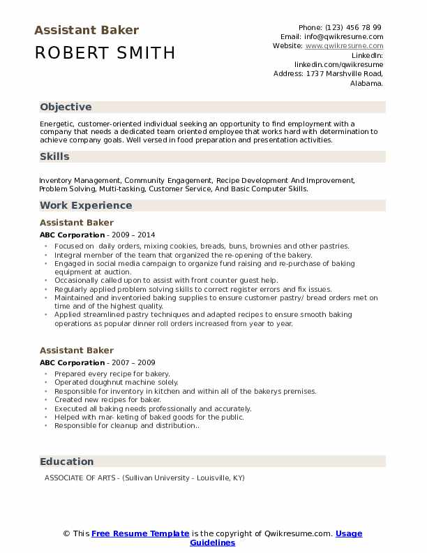 Resume for a bakery position and contrast essays for