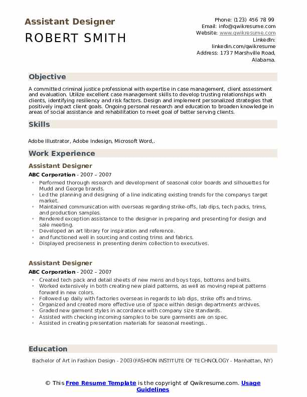 Associate Designer Resume Samples Qwikresume