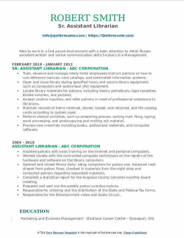 Biomedical Engineer/Specialist Resume Example