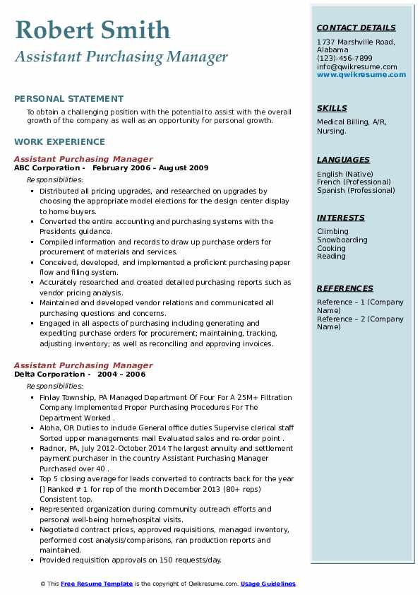 Resume purchasing assistant utilities company sample of references page for resume