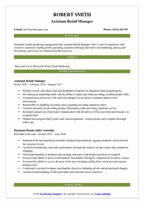 retail resume samples  examples and tips