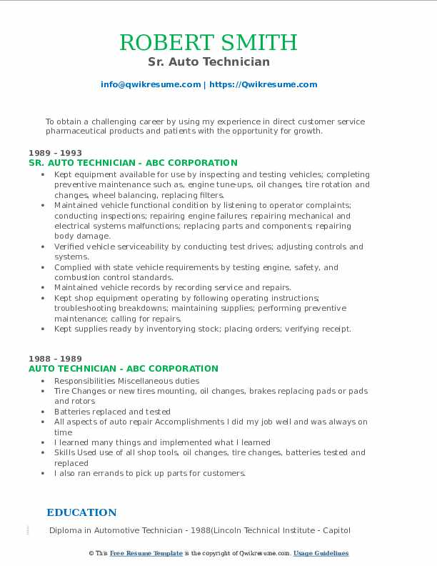 Warehouse Specialist III Resume Format