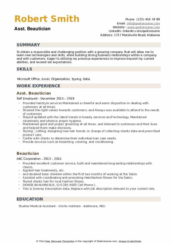 Objective for a beautician resume ap central language and composition essay