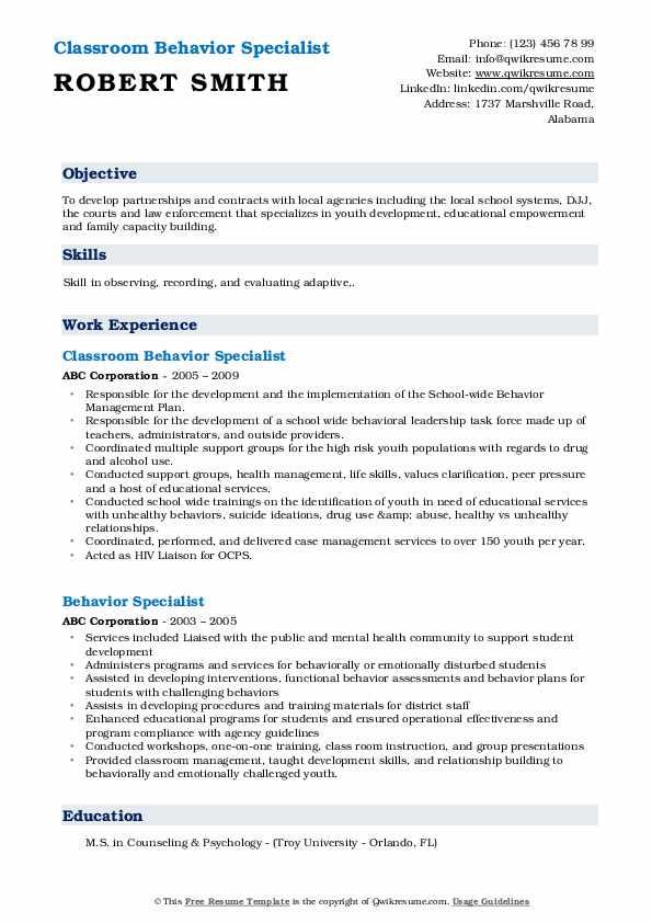 Junior/Senior Program Manager Resume Template