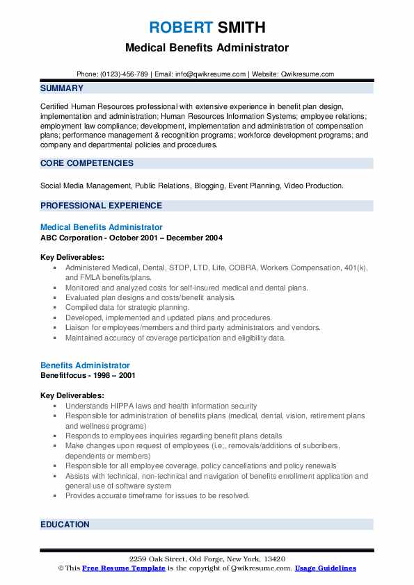 HR Specialist/Quality Assurance Resume Model