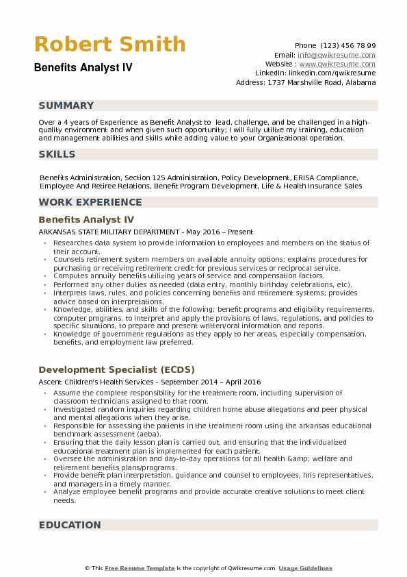 benefits administrator resume hr benefits specialist sle resume
