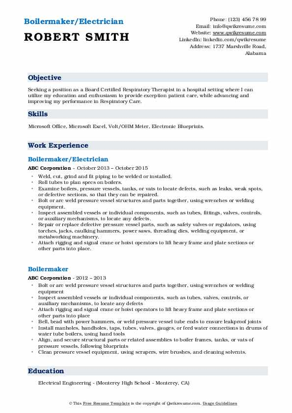 Deckhand/Unlicensed Engineer Resume Example