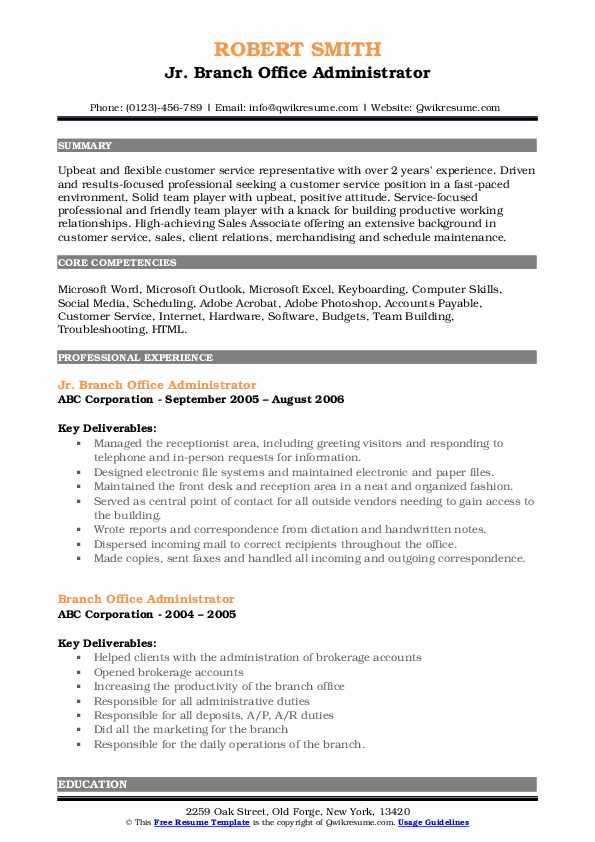 Process Assistant III Resume Template