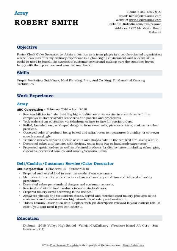 Array Resume Model