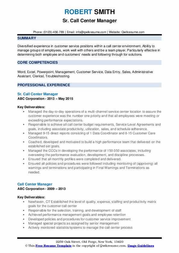 Customer Care Coordinator Resume Samples | QwikResume
