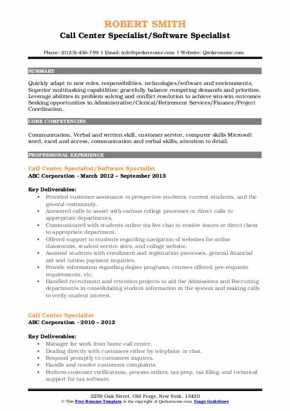 Financial Aid Counselor/Executive Resume Template
