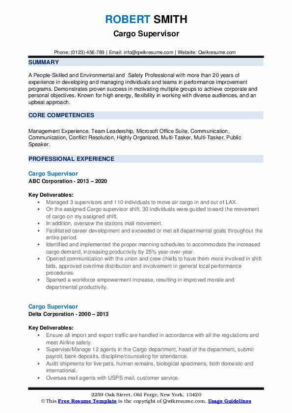 Air freight supervisor resume help with my speech creative writing