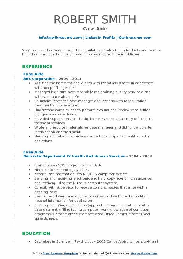 Associate Placement Specialist Resume Model