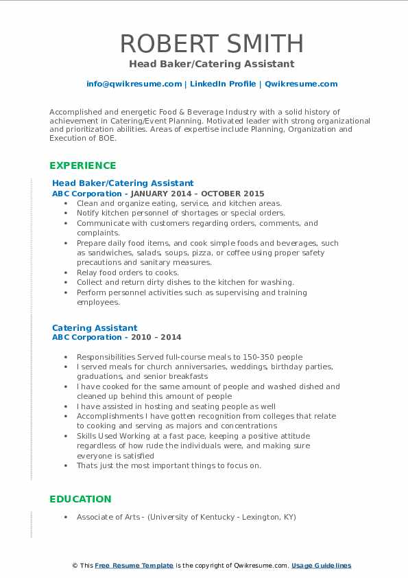 Event Assistant III Resume Template