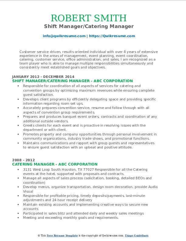 Recovery Specialist III Resume Template