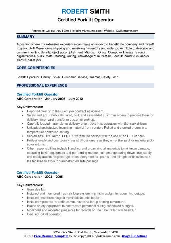 Sales Order Processor Resume Format
