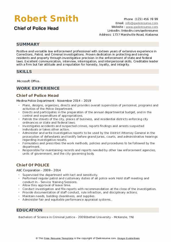 Special Agent-Legal Resume Template