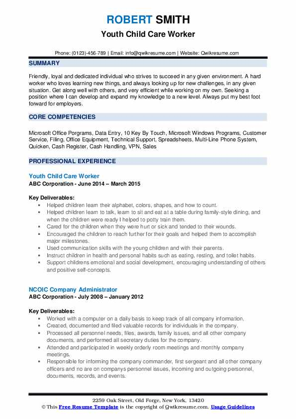 childcare worker resume examples for daycare worker  best
