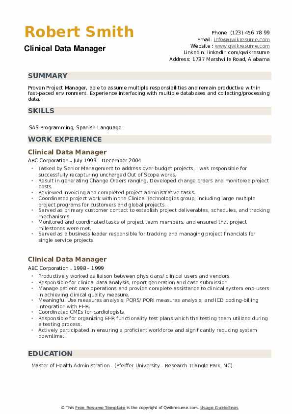 Line Manager Resume example