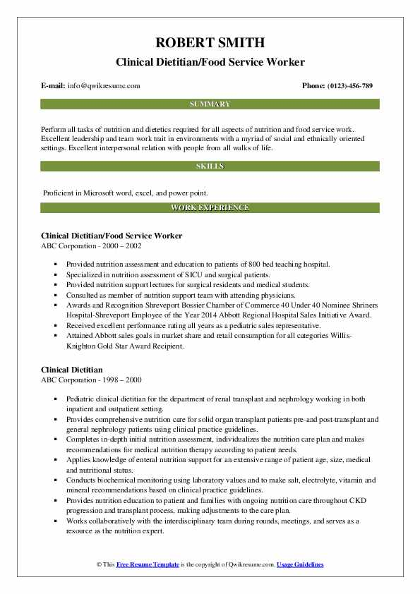 Physician Liaison-Temp Resume Example