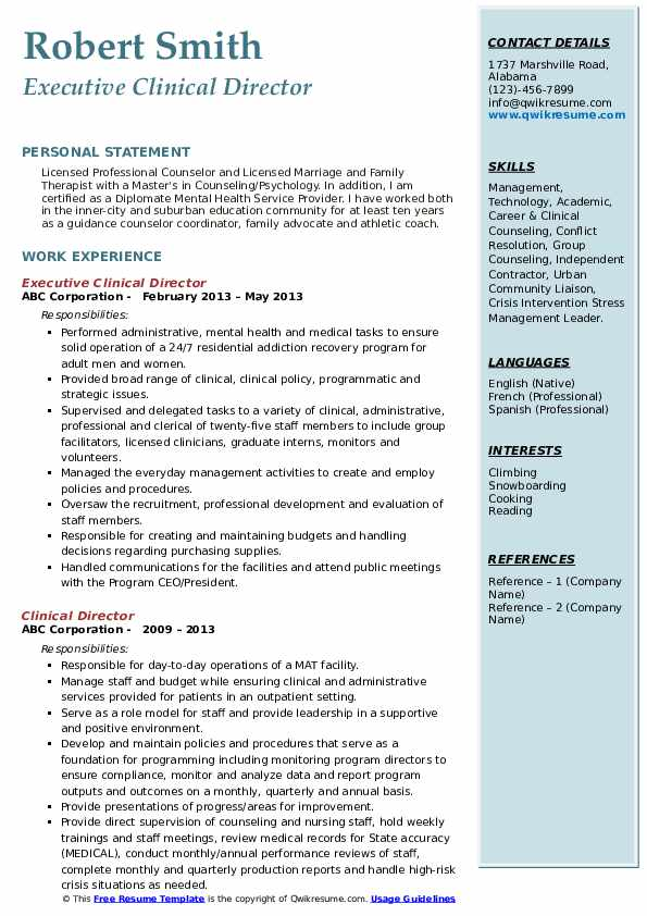 Guidance Counselor II Resume Format
