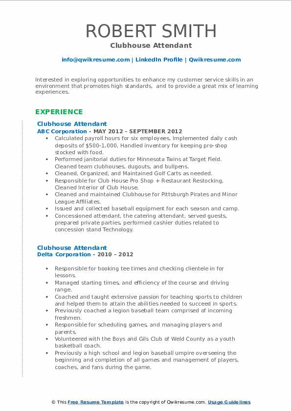 Clubhouse attendant resume free soccer coach essay