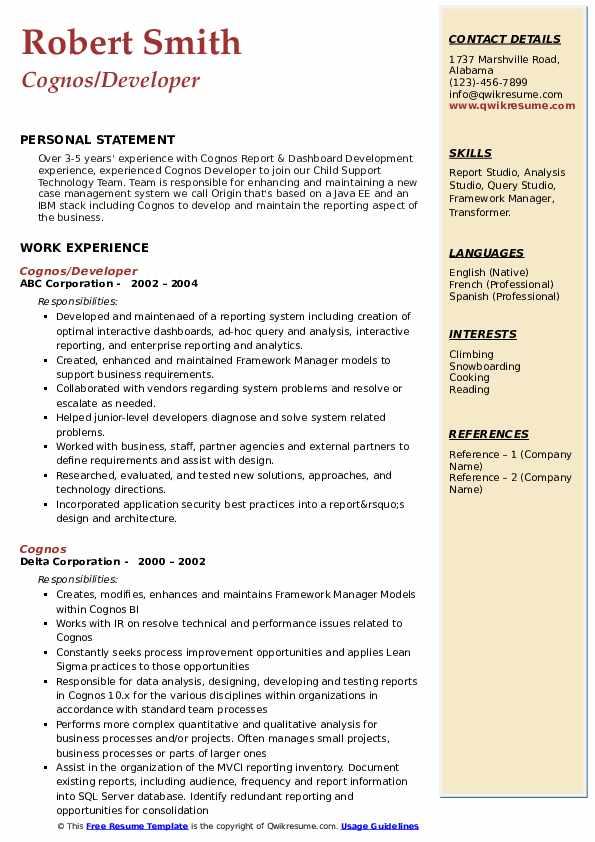 Cognos sample resume essay topic ideas beowulf