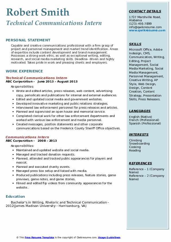 Editorial Intern Resume Samples | QwikResume