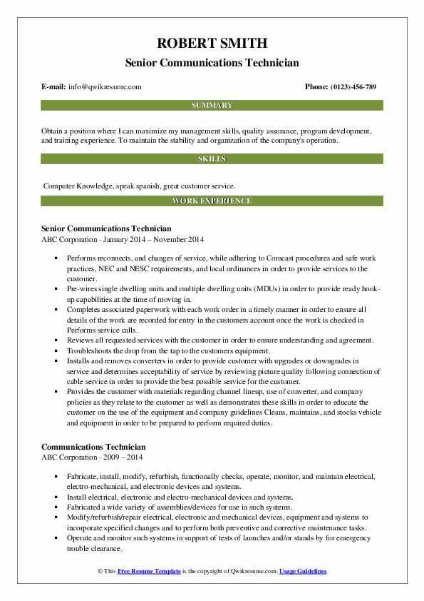 Technical Trainer Resume example