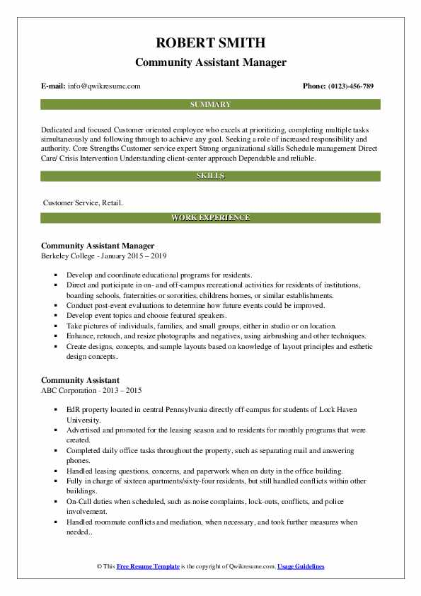 Jr. Journalist Resume Template