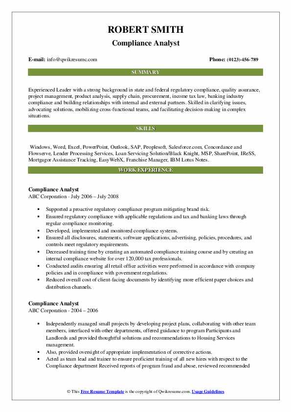Associate Accounting Analyst Resume Template