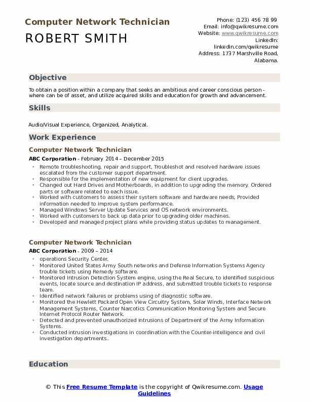 Computer hardware networking resume format pdf resume for wordpress