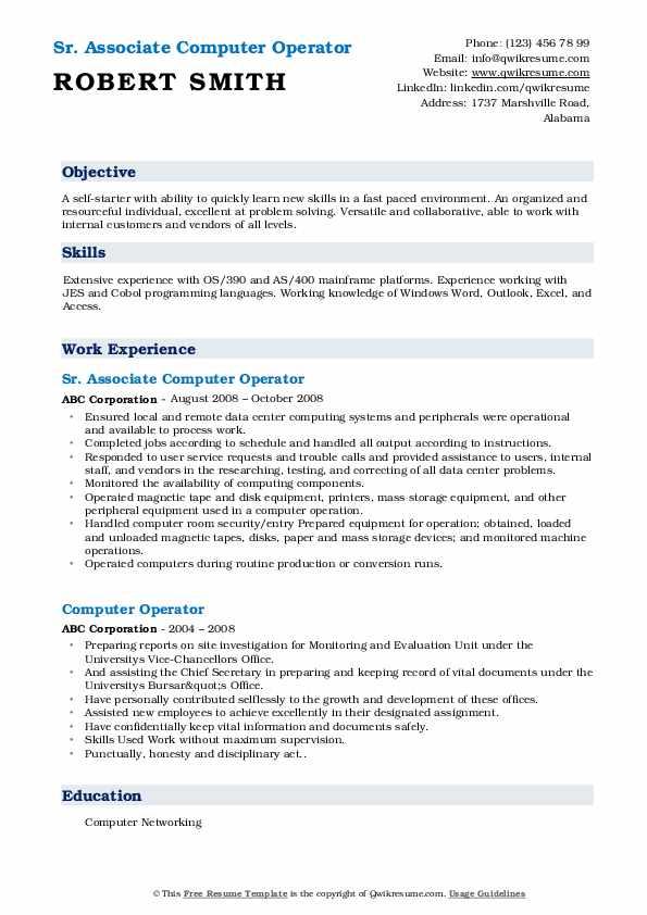 Desktop Support Specialist III Resume Model