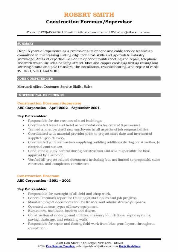 Asst. Alarm Technician Resume Format