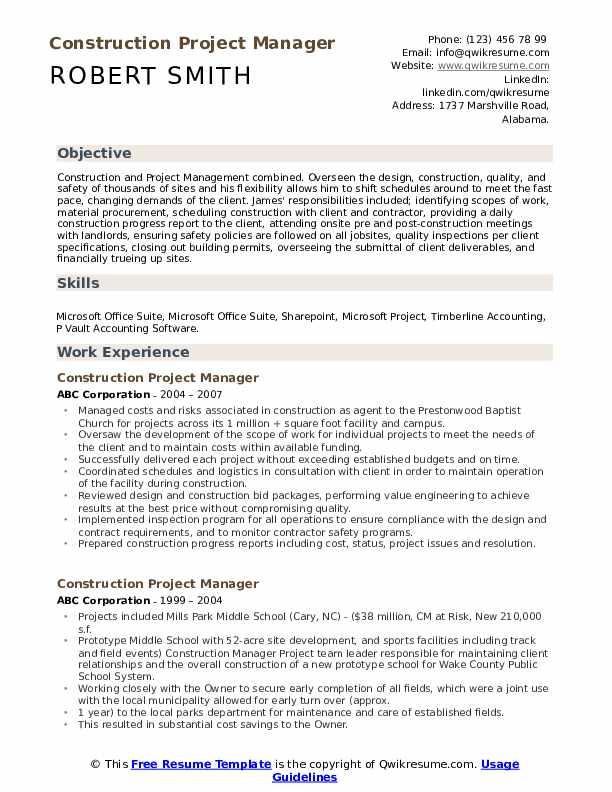 Facilities Director Resume example