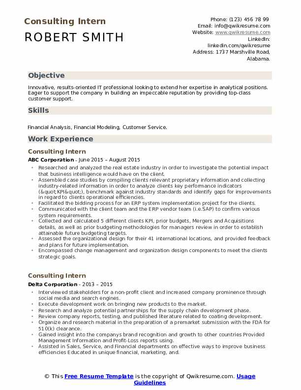 Management consulting internship resume behavioral specialist resume examples