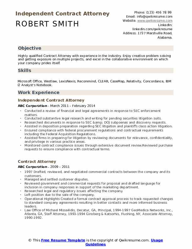 Solo Practitioner Resume example