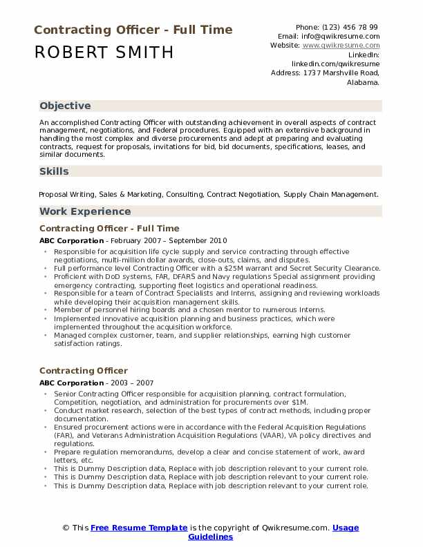 Contract officer resume sample esl creative essay ghostwriter websites us