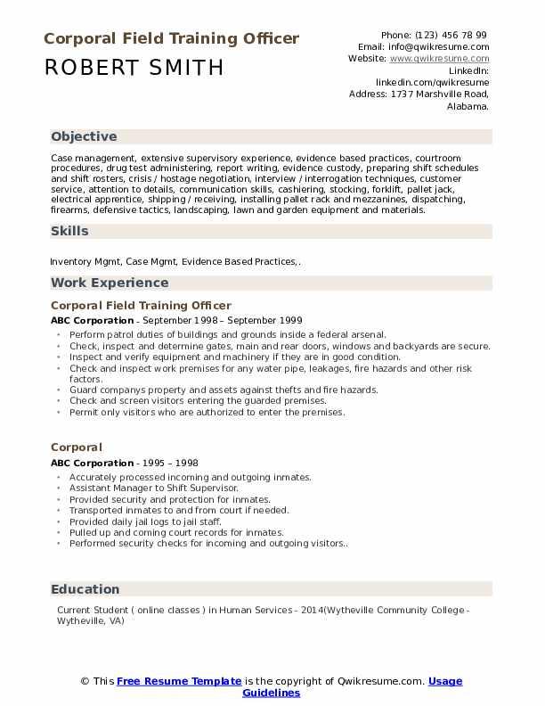 Shift Coordinator - Contractor Resume Example