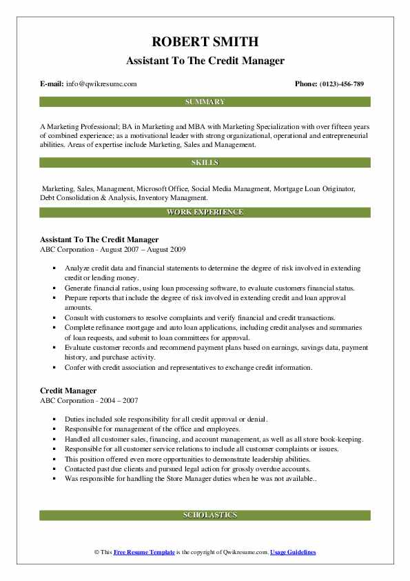 Retail Sales Manager III Resume Format