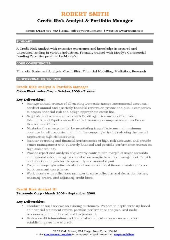 best credit risk manager resume pictures resume sles
