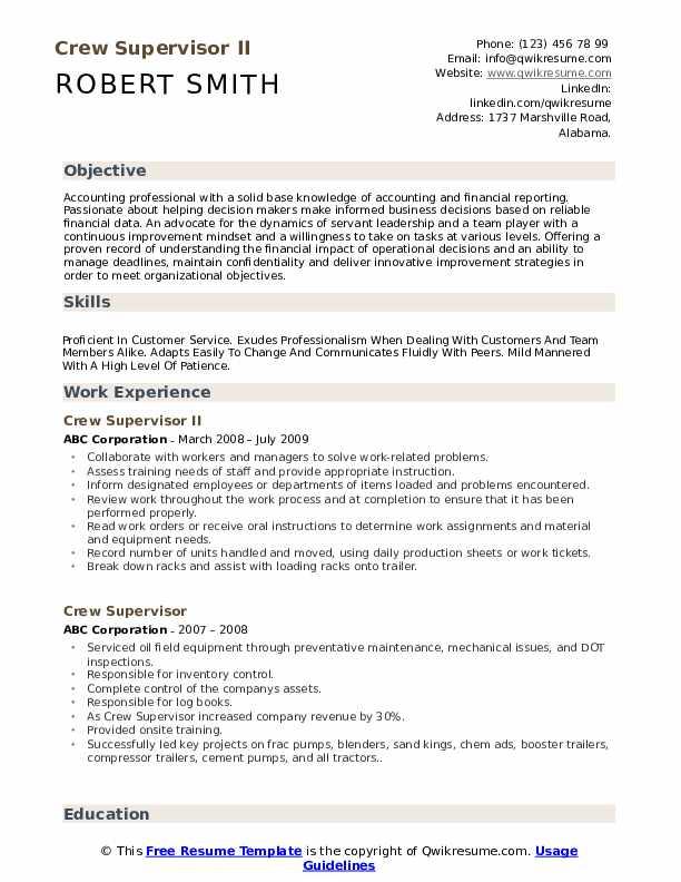 Valet Resume example